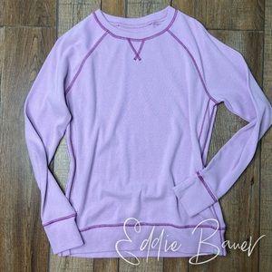 🎃 Eddie Bauer Purple Cotton Sweater M